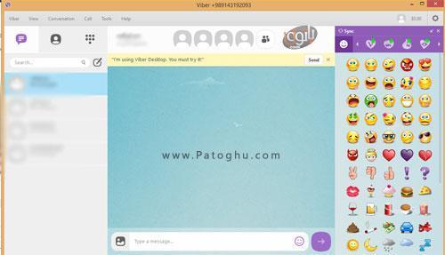 تصویر وایبر روی ویندوز
