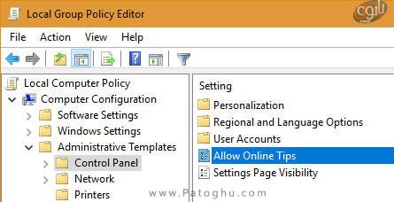 حذف کردن لینک های راهنما از اپلیکیشن تنظیمات در ویندوز 10