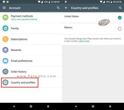 آموزش تغییر کشور در گوگل پلی استور اندروید