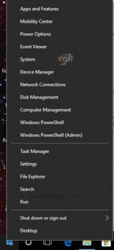 روش اضافه کردن Control Panel به منوی Win + X