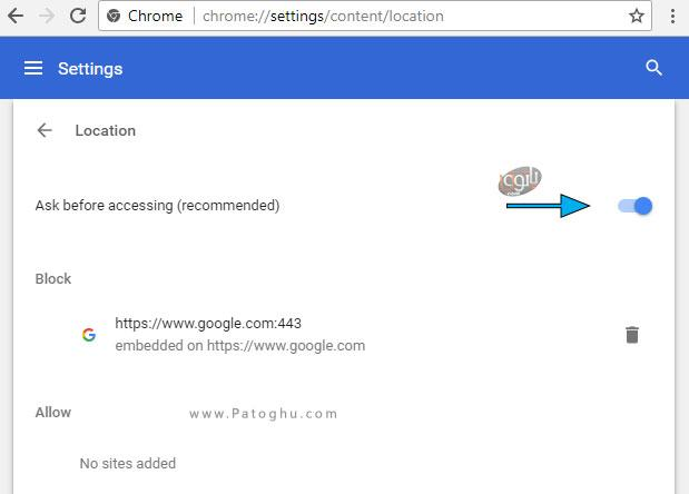 غیرفعال کردن به اشتراک گزاری موقعیت مکانی در مرورگر های اینترنت