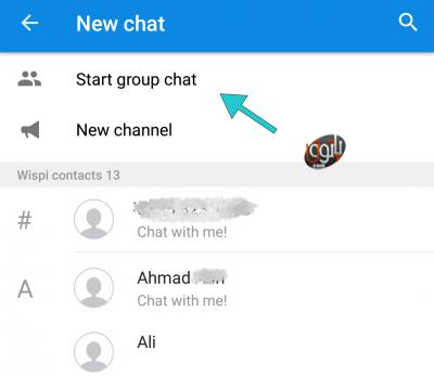 روش ساخت گروه در پیام رسان ویسپی