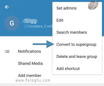آموزش تبدیل گروه معمولی به سوپر گروه در تلگرام