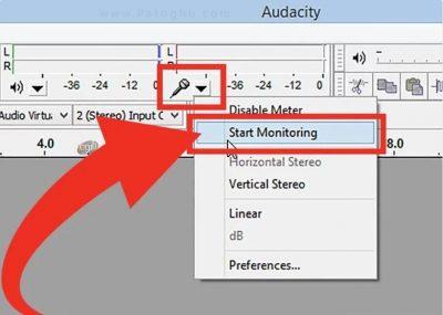 ضبط صدا با Audacity