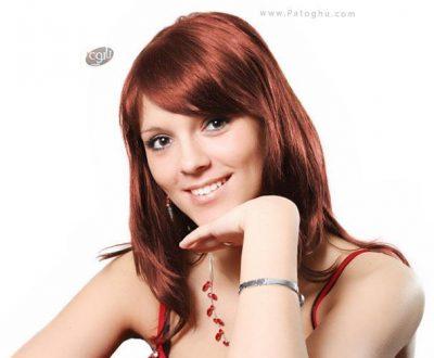 رنگ کردن مو با Photoshop