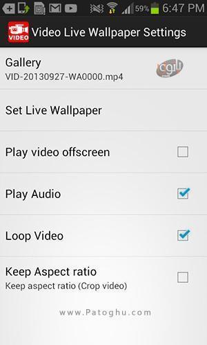 آموزش Video Live Wallpaper