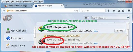 نصب افزونه ی IDM در فایرفاکس-1