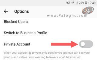 خصوصی کردن حساب اینستاگرام در اندروید-5