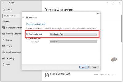 از پرینتر PDF پیش فرض سیستم تان استفاده کنید