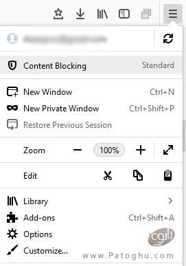 فعال کردن content blocking-1