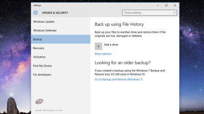 فایل هیستوری (File History)-1