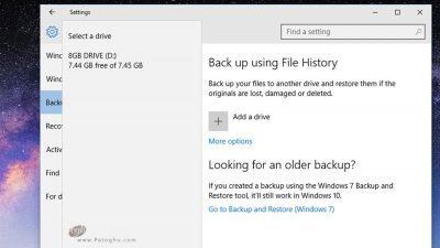 فایل هیستوری (File History)-2