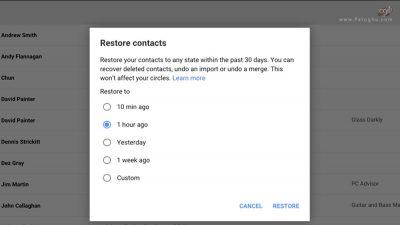ازیابی کانتکت حذف شده به کمک جی میل-3