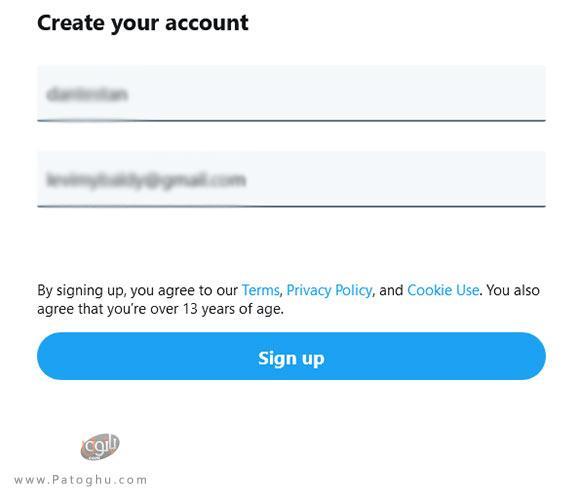 ساخت حساب توییتر-3