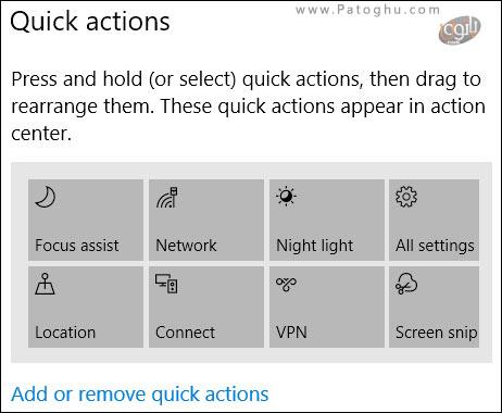شخصی سازی دکمه های -3Quick Action