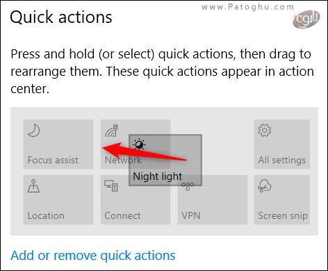 شخصی سازی دکمه های -4Quick Action