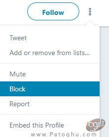 بلاک کردن در توییتر-2