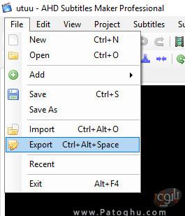 خروجی گرفتن از فایل زیرنویس-1