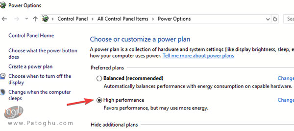 تغییر تنظیمات مصرف انرژی-2