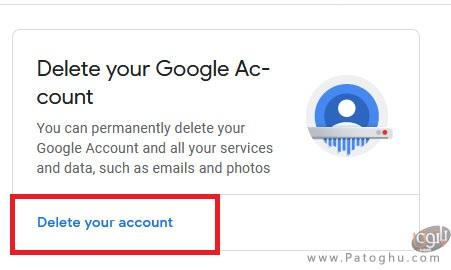 حذف اکانت گوگل-1