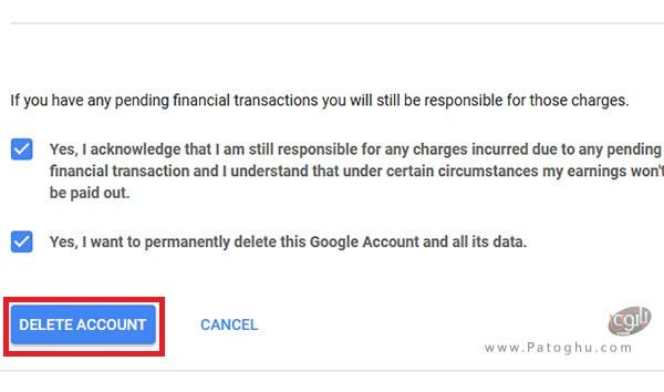 حذف اکانت گوگل-2