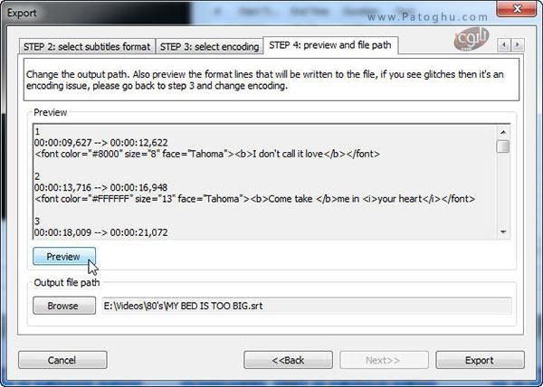 خروجی گرفتن از فایل زیرنویس-5
