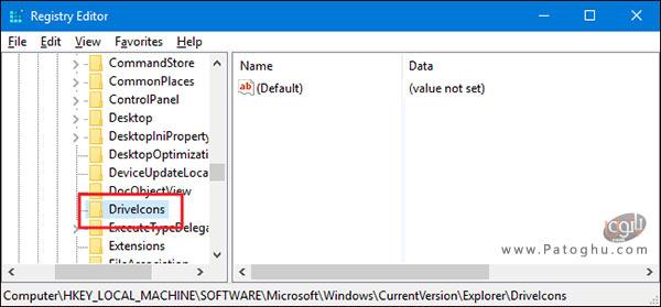 تغییر آیکون درایو ها در فایل اکسپلورر-1