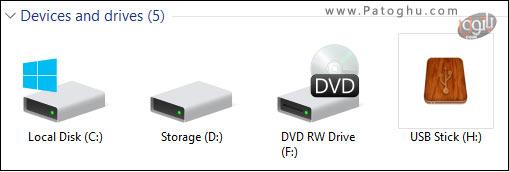 تغییر آیکون درایو ها در فایل اکسپلورر-6
