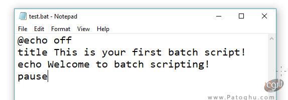 نوشتن یک فایل بچ در ویندوز-1