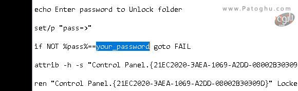 رمز گذاری پوشه ها به کمک کد متنی-2