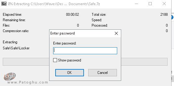 رمز گذاری پوشه ها با برنامه ی 7Zip-2