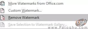 برداشتن واترمارک از روی سند