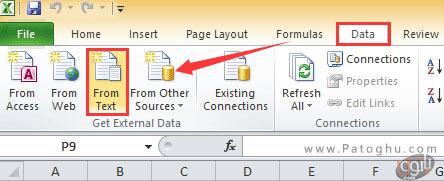 تبدیل سند ورد به فایل اکسل با استفاده از ابزار داخلی اکسل-3