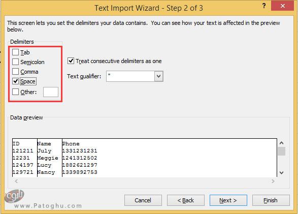 تبدیل سند ورد به فایل اکسل با استفاده از ابزار داخلی اکسل-6