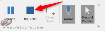 استفاده از اسکرین رکوردر پاورپوینت-5