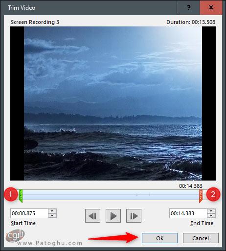 اصلاح ویدیو (Trimming) -2