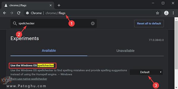 فعال کردن غلط یاب متن ویندوز در گوگل کروم-1