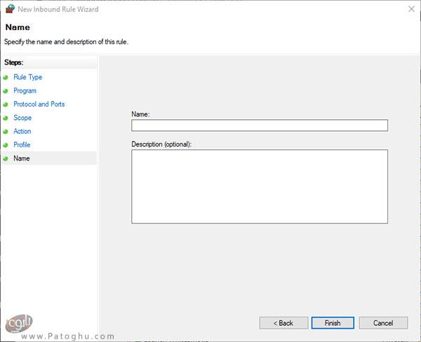 تنظیم فایروال ویندوز برای دسترسی به یک رنج IP-6