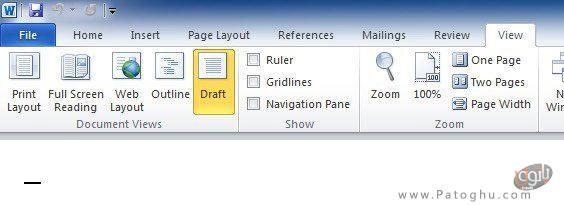 باز کردن فایل در حالت Draft-2