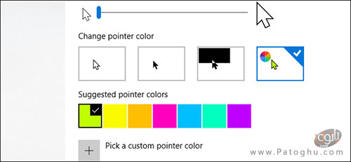 تغییر رنگ و اندازه ی نشانگر ماوس در ویندوز 10