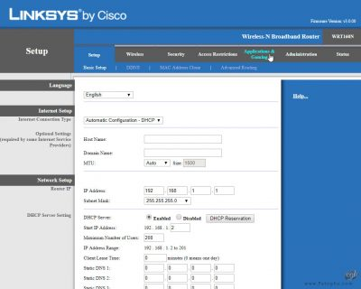 محدود کردن پهنای باند در مودم های Linksys-1