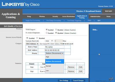 محدود کردن پهنای باند در مودم های Linksys-4
