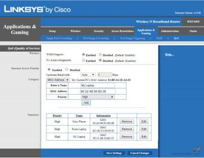 محدود کردن پهنای باند در مودم های Linksys-5