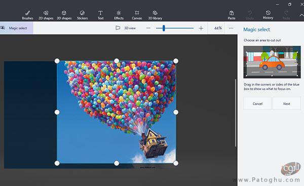 برش بخشی از عکس در نرم افزار Paint 3D-3