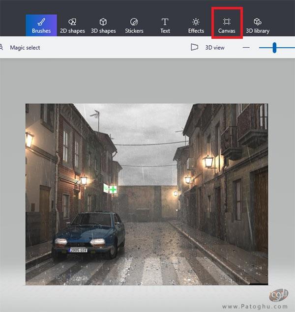 تغییر اندازه عکس در Paint 3D-2