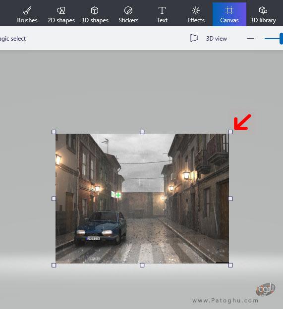 تغییر اندازه عکس در Paint 3D-4