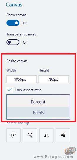 تغییر اندازه عکس در Paint 3D-5