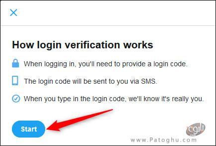 فعال کردن تایید هویت دو مرحله ای در توییتر-8