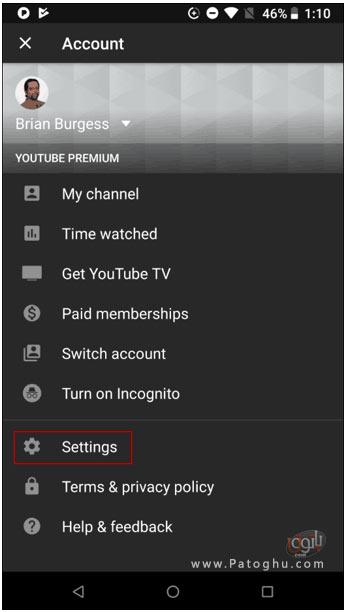 غیرفعال کردن پخش خودکار ویدئو ها در اپلیکیشن یوتیوب-2