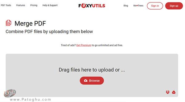ترکیب چند فایل پی دی اف به صورت آنلاین-4